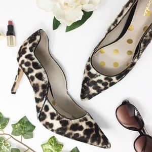 BODEN leopard print heels leather calf hair